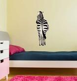 Zebra achterkant Sticker