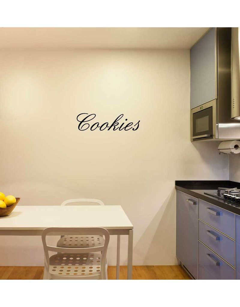 Cookies lettres adhésives
