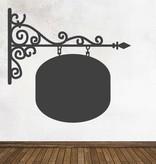 Autocollant tableau noir Enseigne Circle
