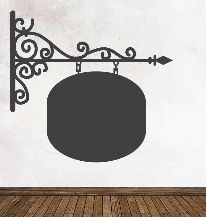 Black board Signboard  Rond Sticker