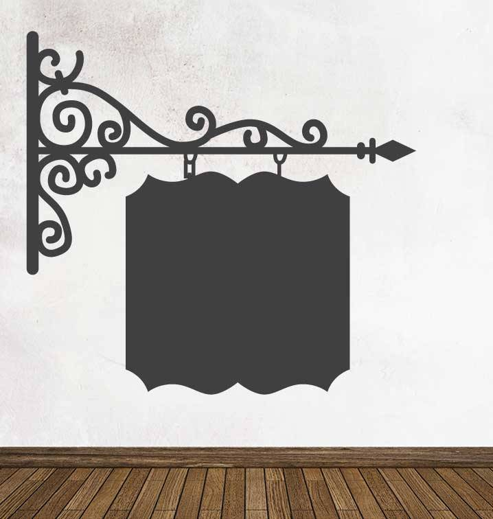 Schoolbord Uithangbord Vierkant Sticker