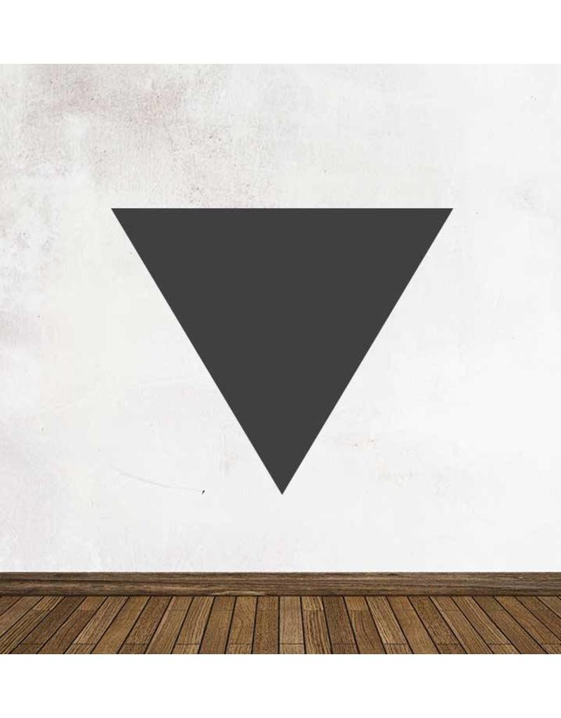Black board figures Triangle Sticker