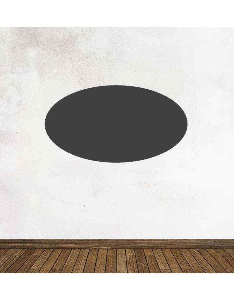 Black board figures Oval Sticker