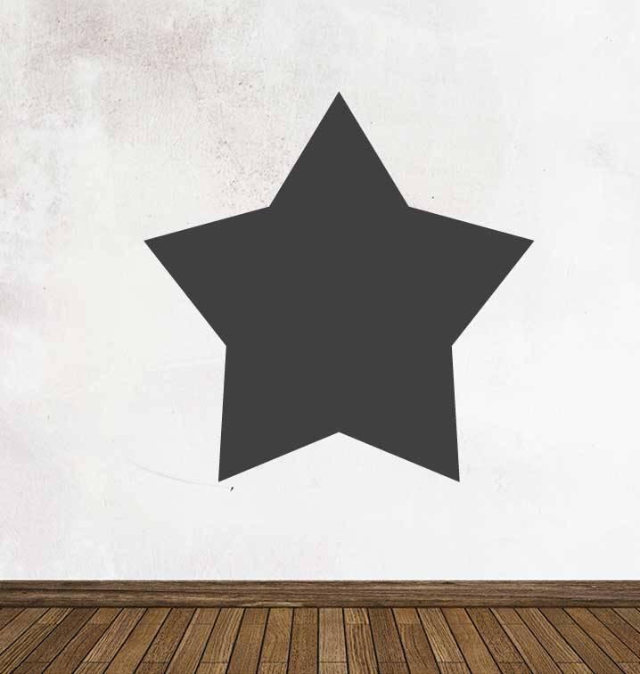 Autocollant tableau noir Figures Étoile