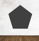 Autocollant tableau noir Figures Pentagone