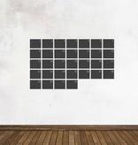 Autocollant tableau noir Calendrier Aperçu mensuel