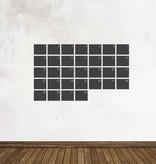 Schoolbord Kalender Maandoverzicht Sticker