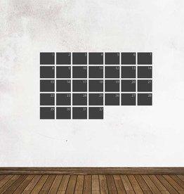 Pegatina pizarra calendario mensual