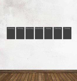 Black board Calendar weekly overview Sticker