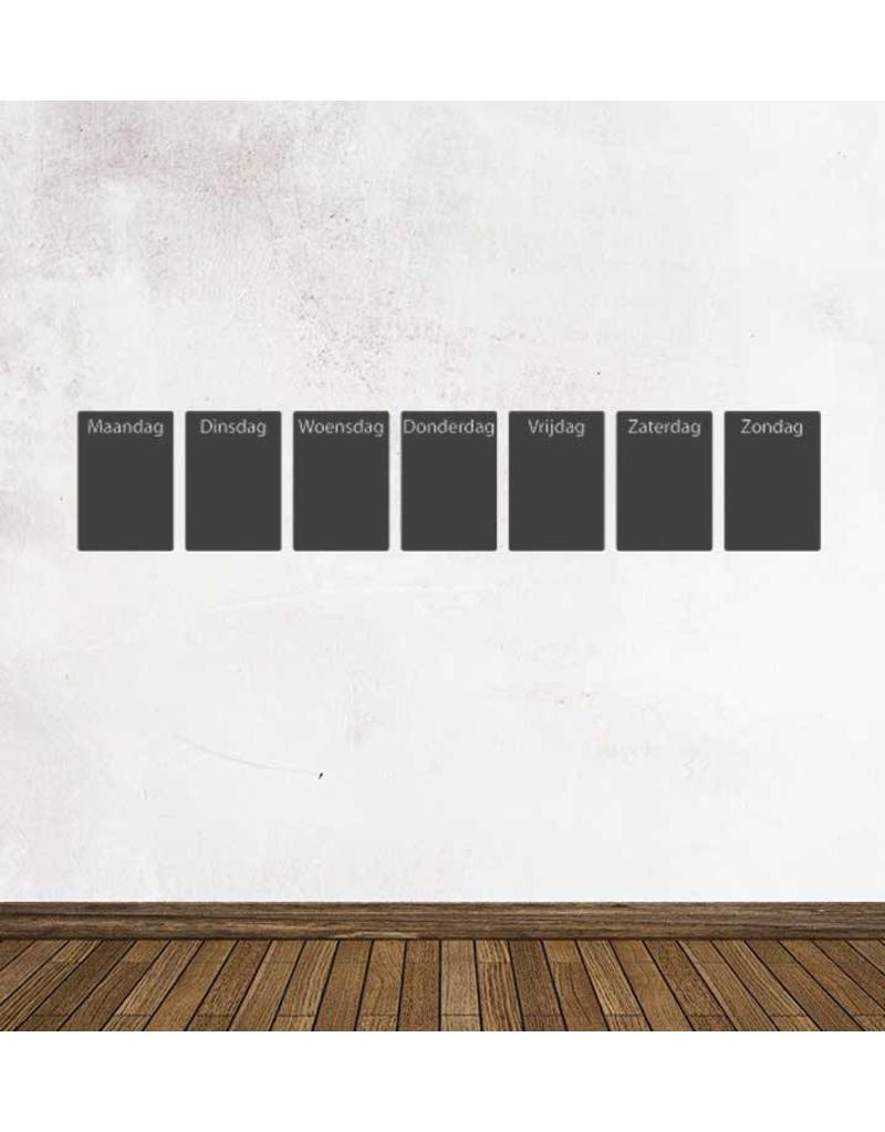 Black board Calendar weekly overview Sticker