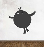 Autocollant tableau noir Cartoon Animaux Oiseau