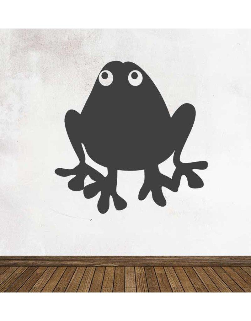Black board Cartoon Animal Frog Sticker