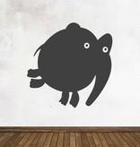 Schoolbord Cartoon Dieren Olifant Sticker