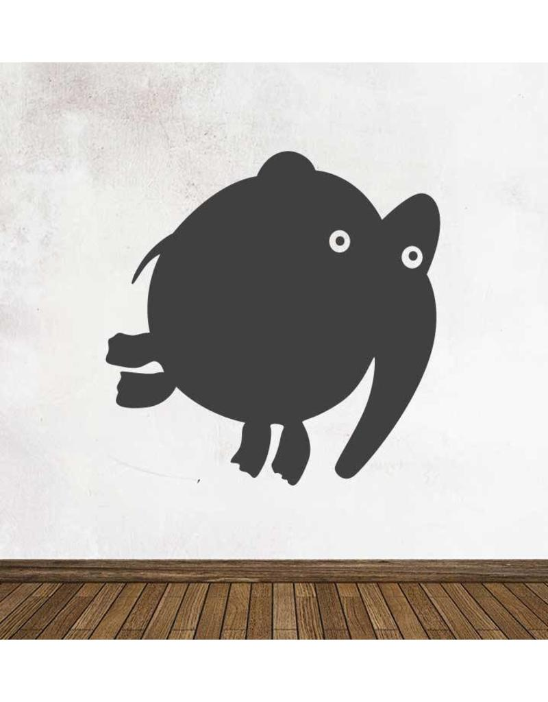 Black board Cartoon Animal Elephant Sticker