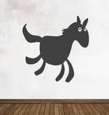 Pegatina pizarra animales caballo