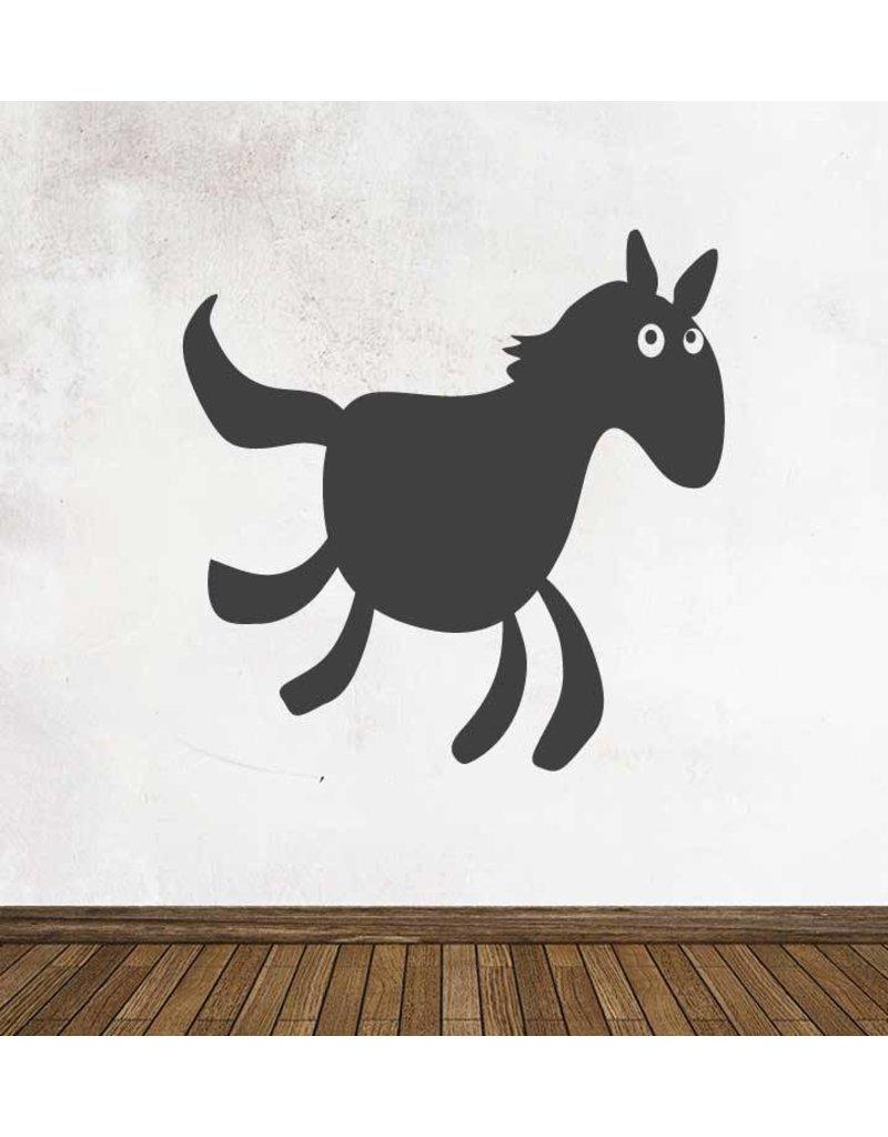 Schoolbord Cartoon Dieren Paard Sticker