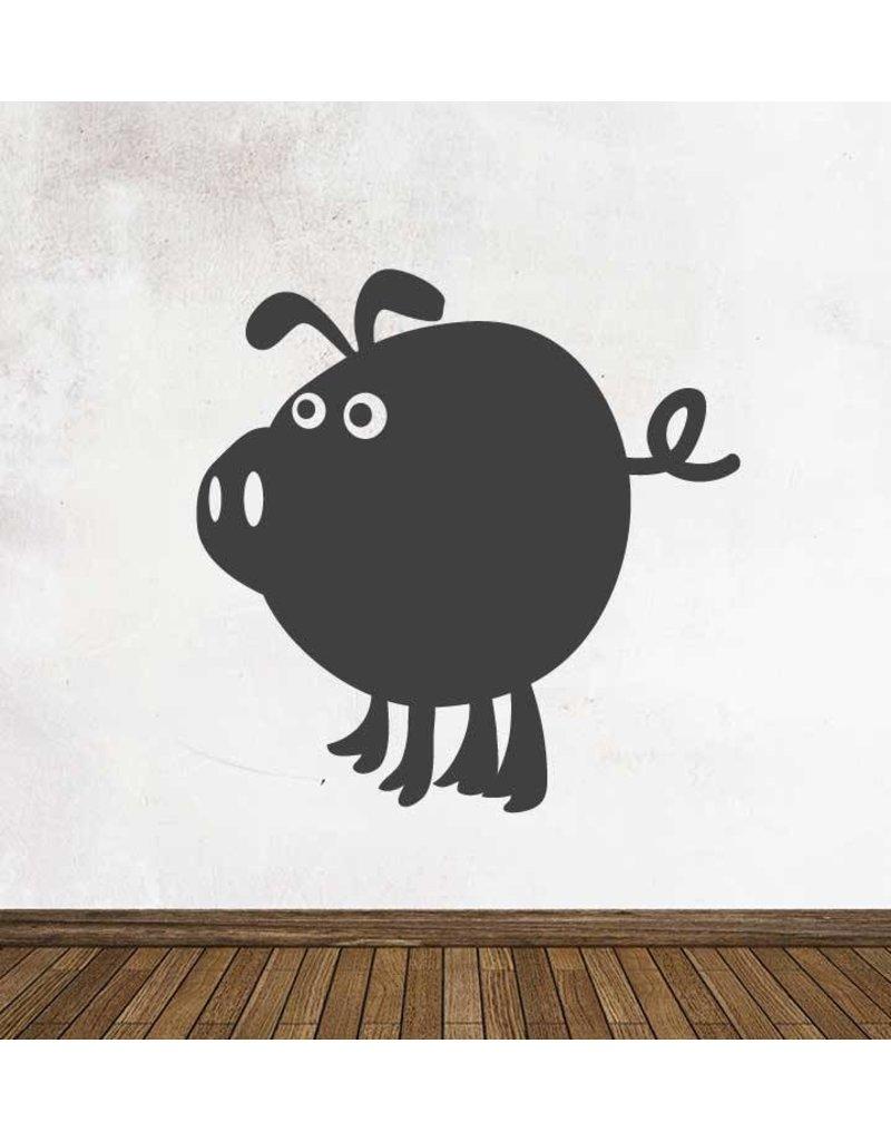 Autocollant tableau noir Cartoon Animaux Cochon
