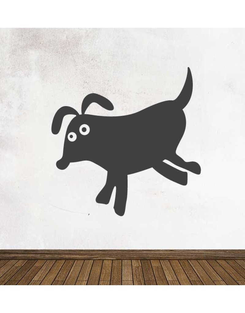 Schoolbord Cartoon Dieren Hond Sticker