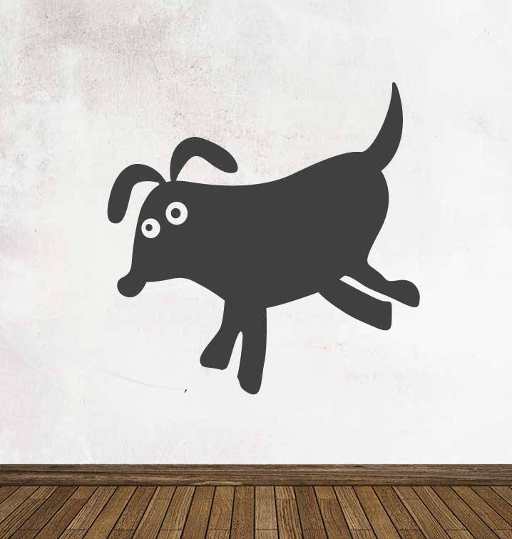 Schoolbord Cartoon Dieren Hond Sticker