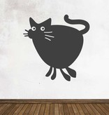 Autocollant tableau noir Cartoon Animaux Chat