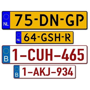 Kennzeichen Sticker