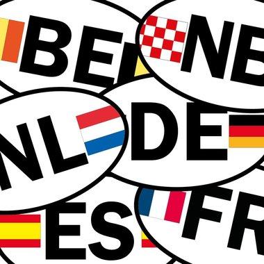 Provincie/ landcode stickers