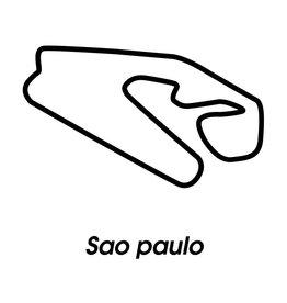 Rennstrecke Sao paulo schwarz weiß