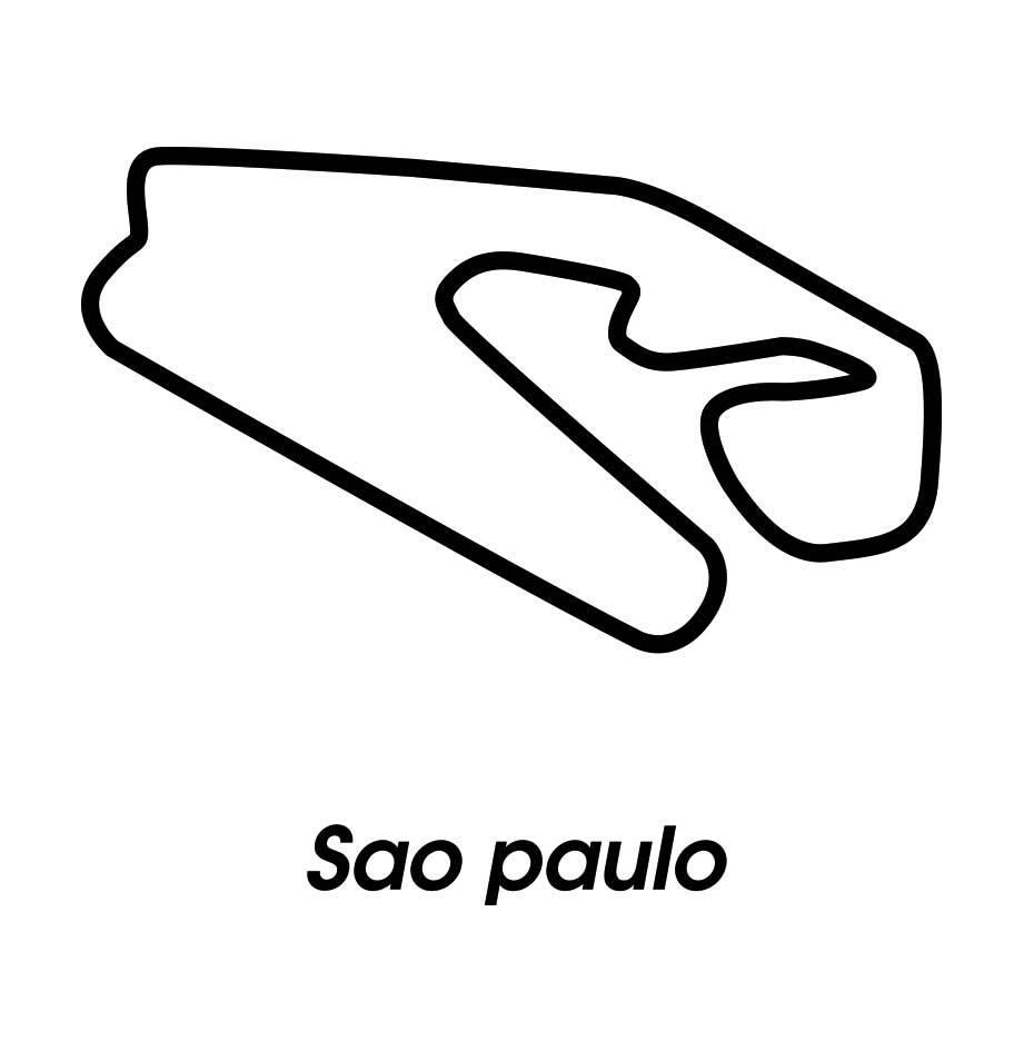 Circuit de course Sao Paulo noir et blanc