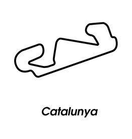Circuit de course Catalunya noir et blanc