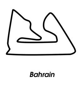 Rennstrecke Bahrain schwarz Weiß