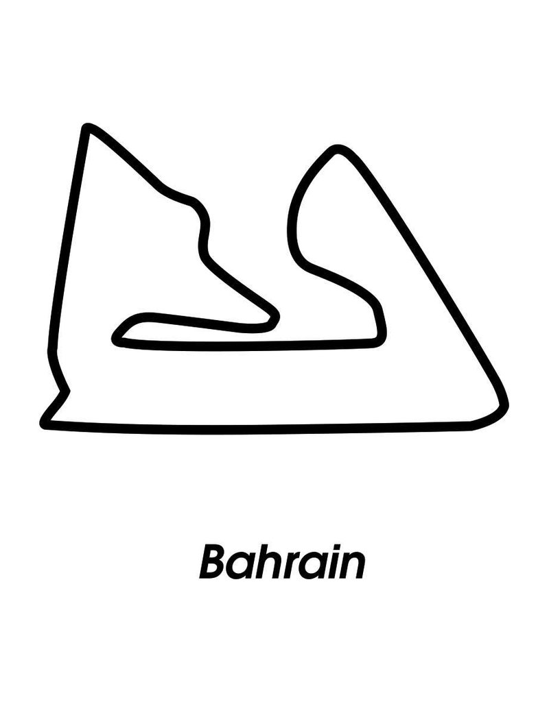 Race circuit Bahrain Black White