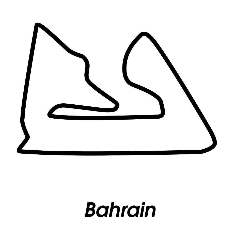 Race circuit Bahrain Black White