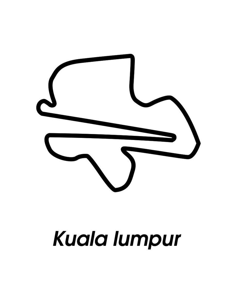 Race circuit Kuala Lumpur Black White