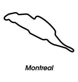 Race circuit Montreal Black White