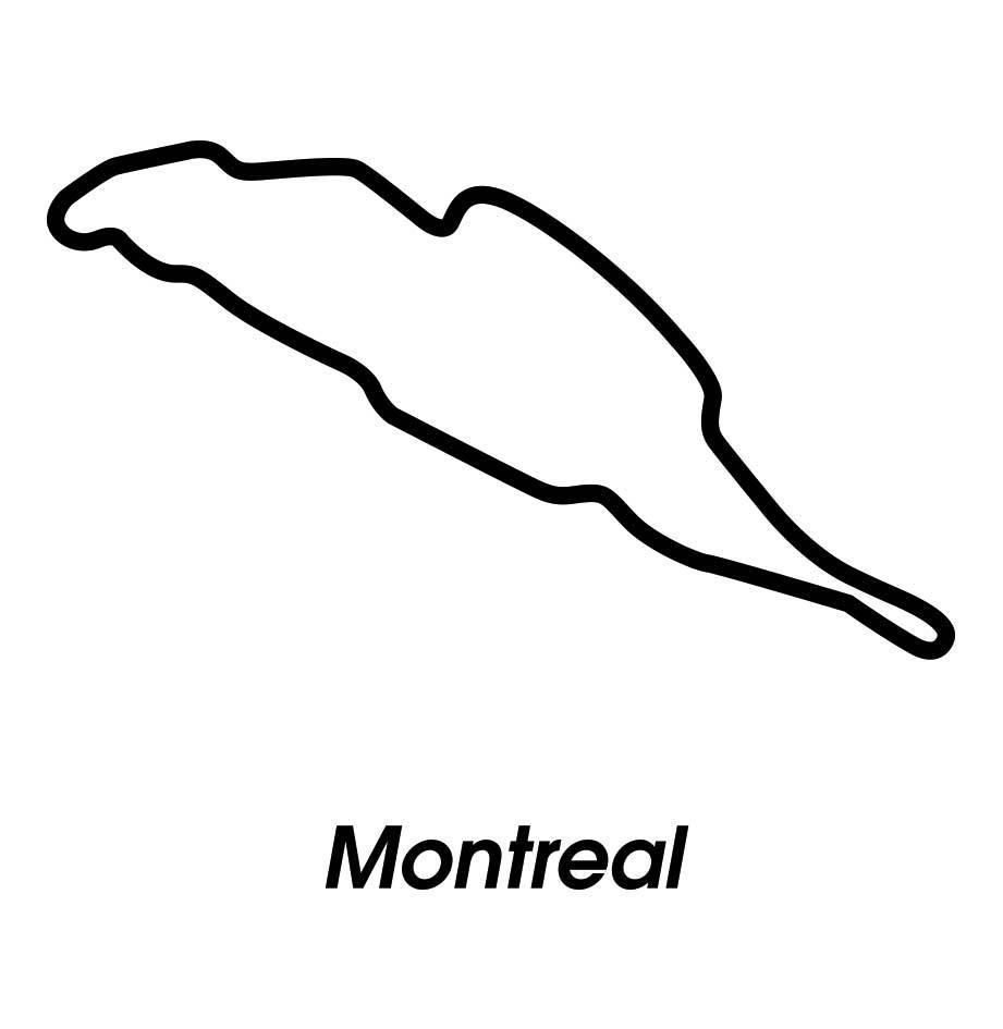 Circuito de carerras Montreal negro y blanco