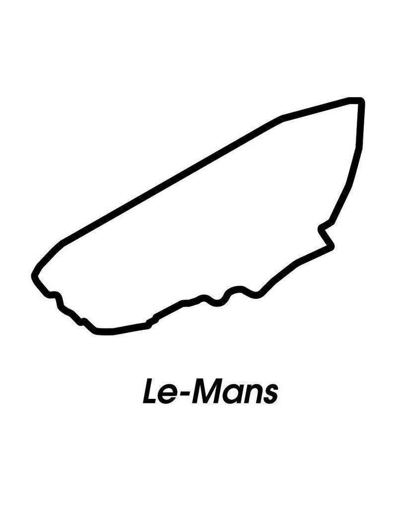 Race circuit Le-Mans Black White