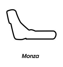 Race circuit Monza Black White