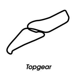 Circuit de course Topgear noir et blanc