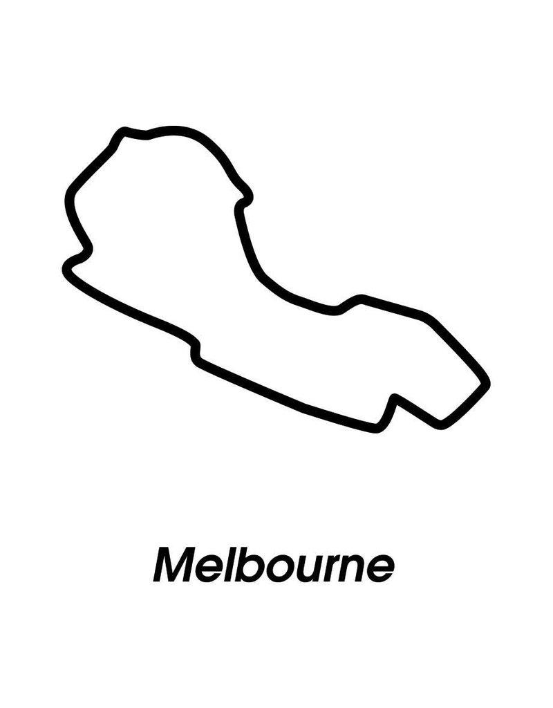 Circuit de course Melbourne noir et blanc