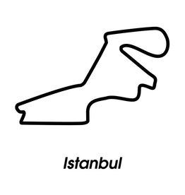 Rennstrecke Istanbul schwarz weiß
