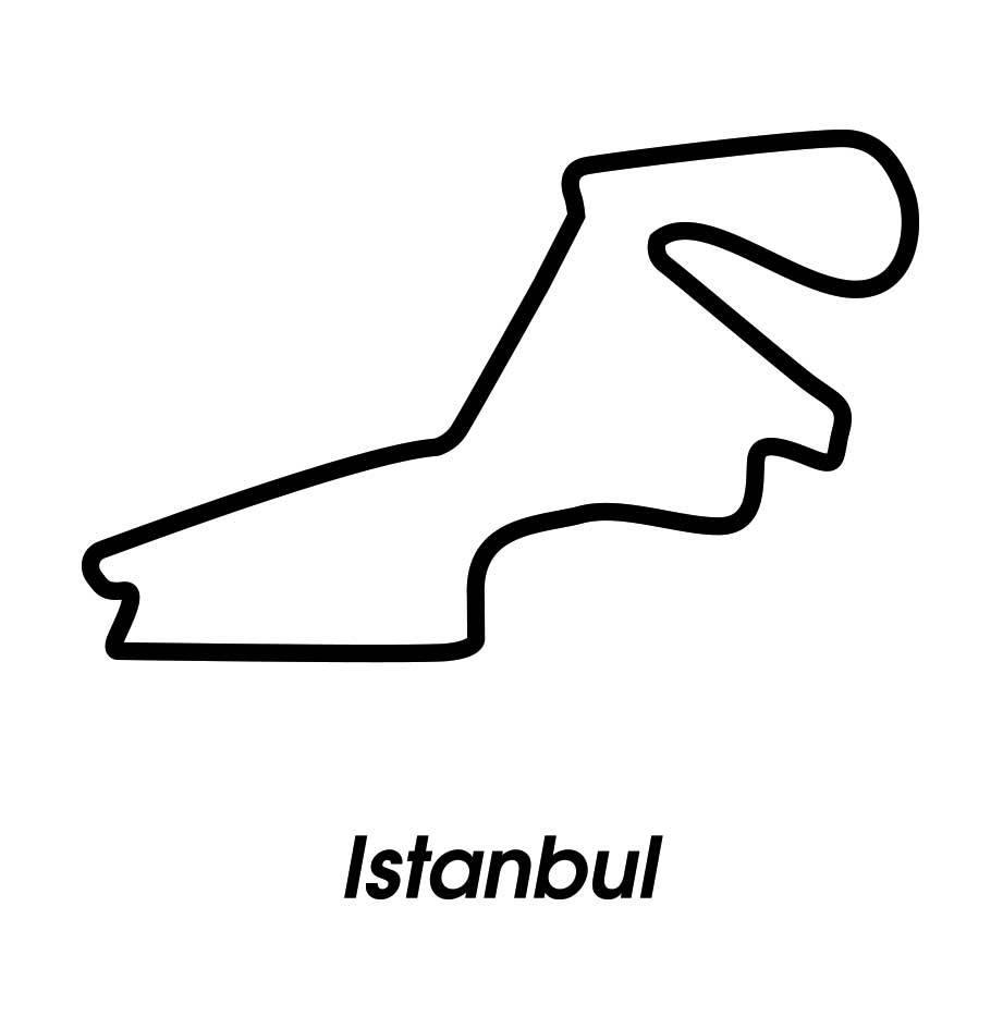 Circuit de course Istanbul noir et blanc