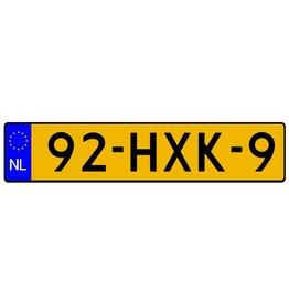Dutch registration sticker (Original size)
