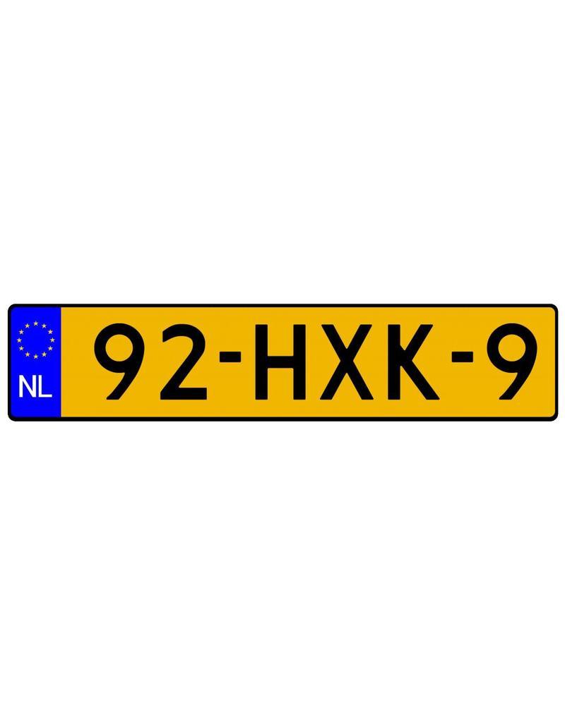 Dutch registration sticker