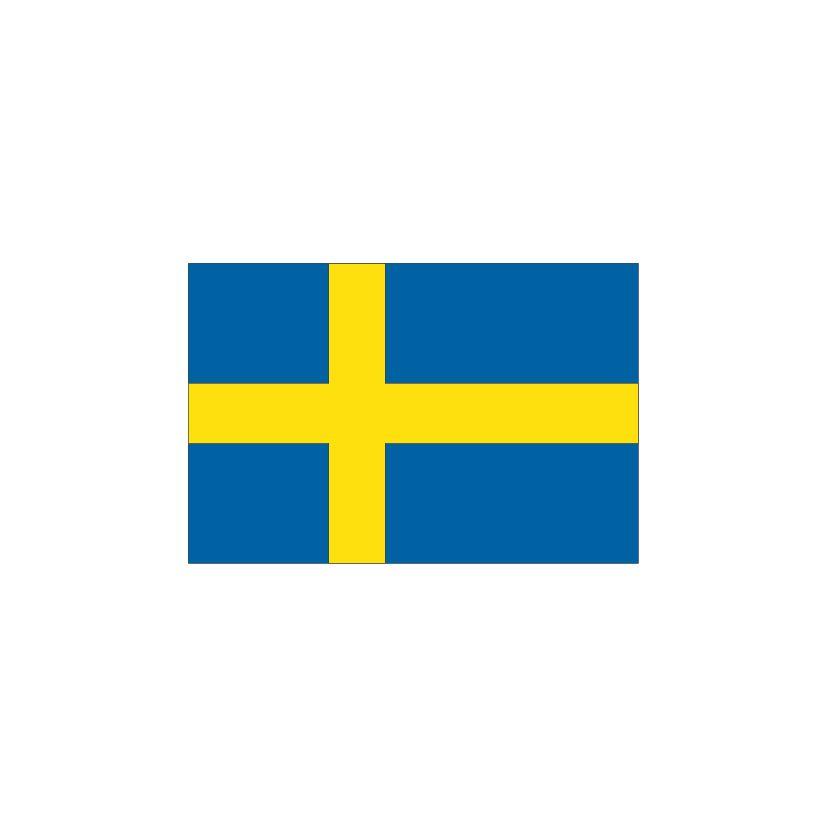 Suède Autocollant du drapeau