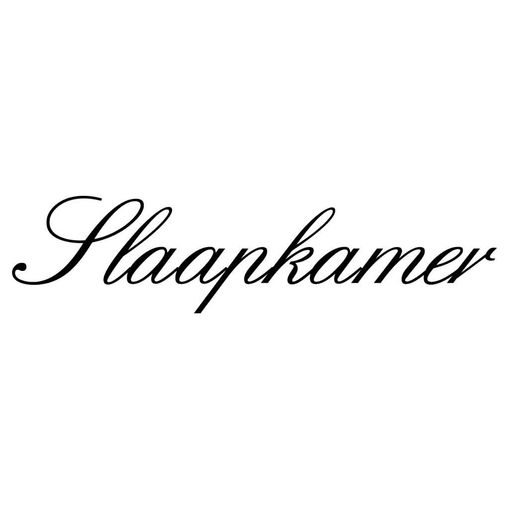 Texte néerlandais:  ''Slaapkamer'' lettres adhésives