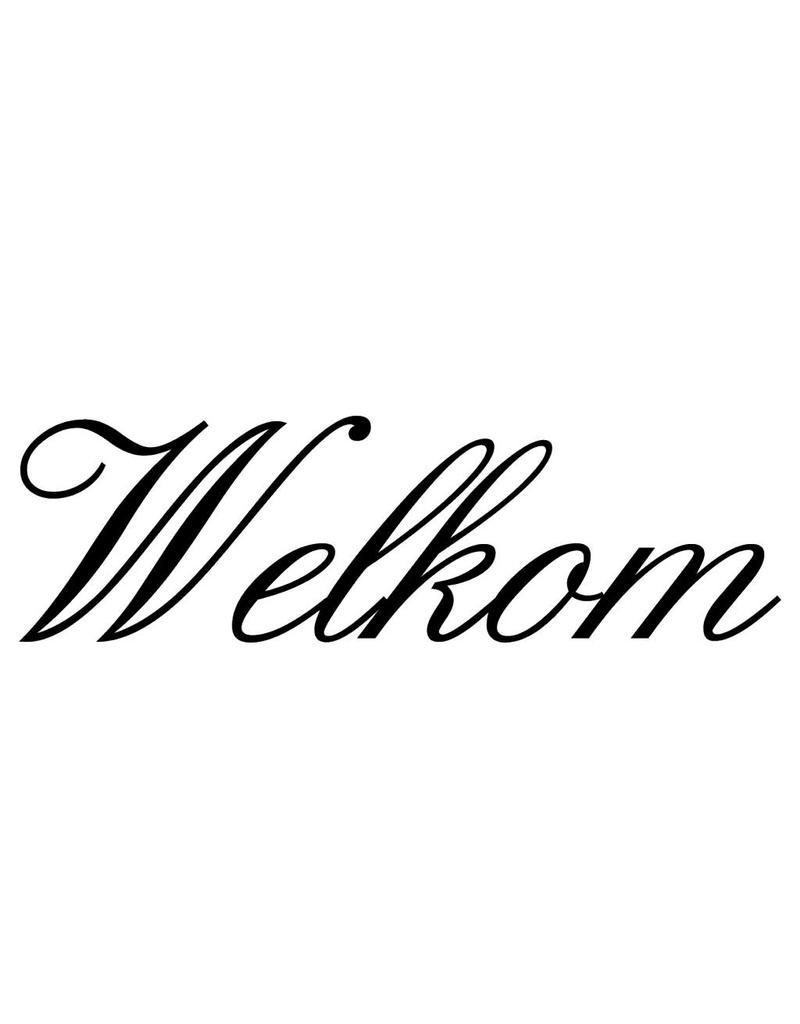 Dutch text: ''Welkom''