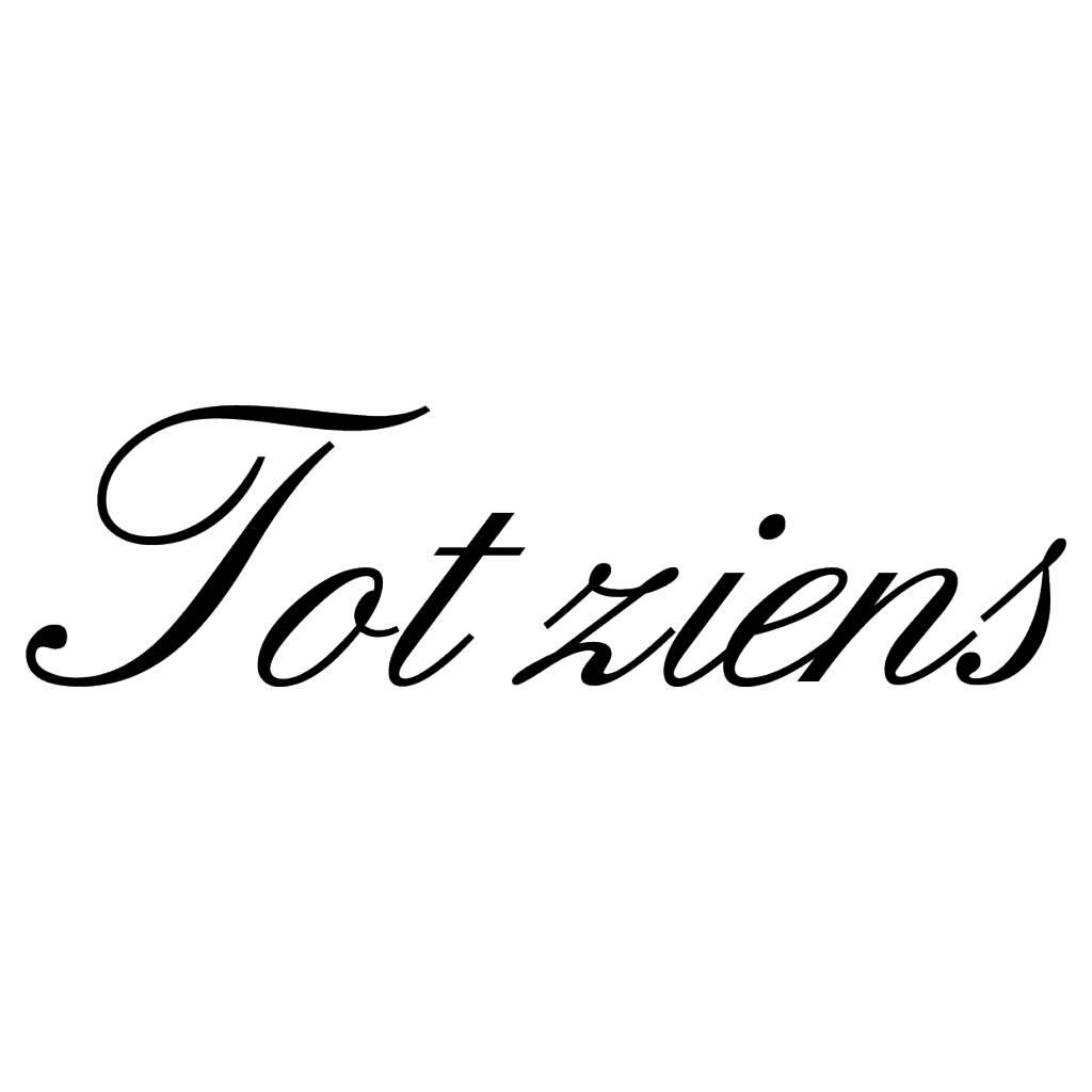 Texte néerlandais:  '' Tot ziens'' lettres adhésives