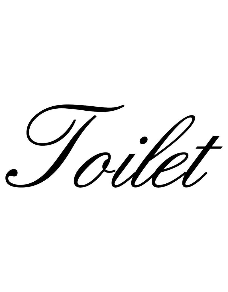 Dutch text: ''Toilet''