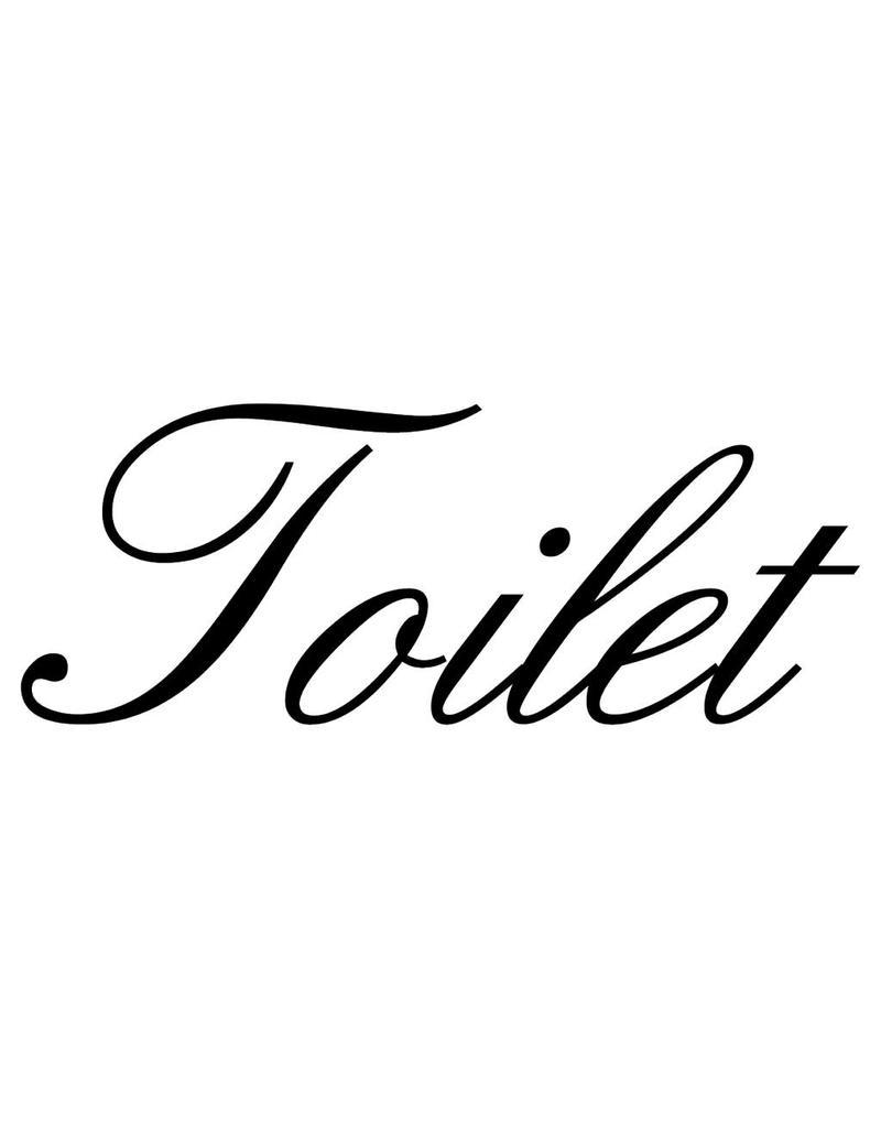 Texte néerlandais:  ''Toilet'' lettres adhésives