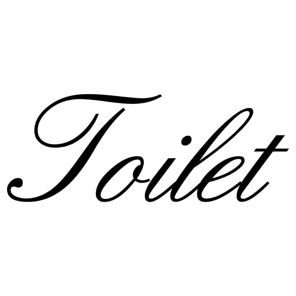 Niederländischer Tekst: ''Toilet''